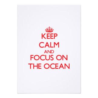 Guarde la calma y el foco en el océano comunicado personal