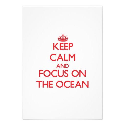 Guarde la calma y el foco en el océano comunicado personalizado