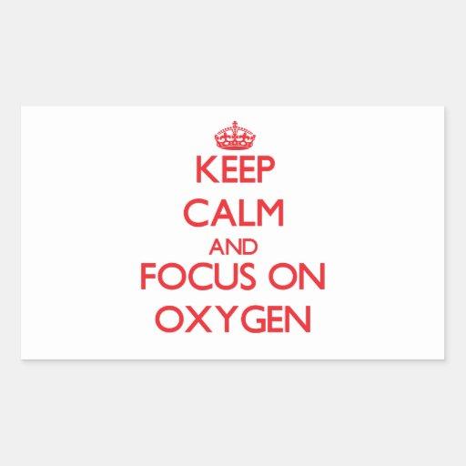 Guarde la calma y el foco en el oxígeno rectangular altavoz