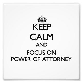 Guarde la calma y el foco en el poder del abogado fotografia