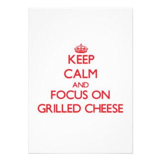 Guarde la calma y el foco en el queso Grilled Anuncios
