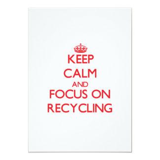 Guarde la calma y el foco en el reciclaje anuncio