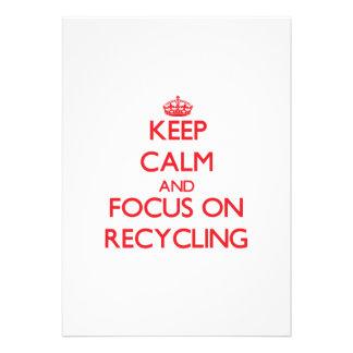 Guarde la calma y el foco en el reciclaje