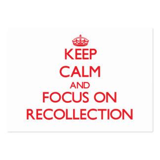 Guarde la calma y el foco en el recuerdo