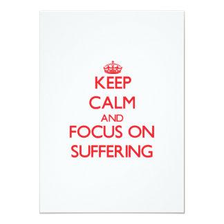 Guarde la calma y el foco en el sufrimiento invitación 12,7 x 17,8 cm