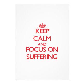 Guarde la calma y el foco en el sufrimiento anuncio personalizado
