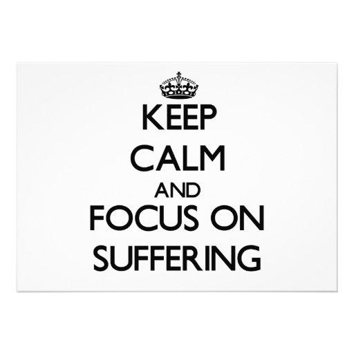 Guarde la calma y el foco en el sufrimiento invitacion personalizada