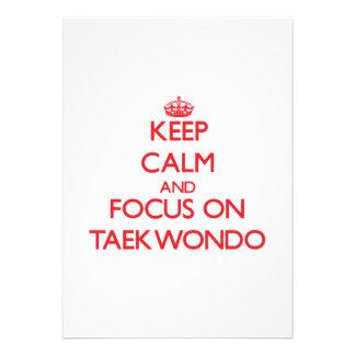 Guarde la calma y el foco en el Taekwondo Comunicado