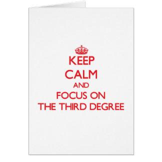 Guarde la calma y el foco en el tercer grado
