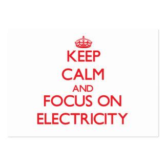 Guarde la calma y el foco en electricidad