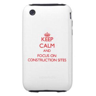 Guarde la calma y el foco en emplazamientos de la  tough iPhone 3 cárcasa