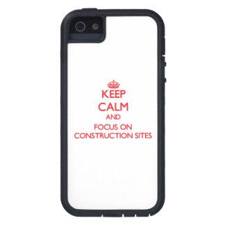 Guarde la calma y el foco en emplazamientos de la  iPhone 5 funda