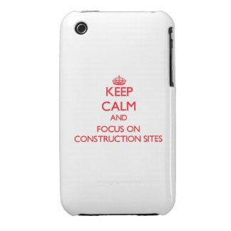 Guarde la calma y el foco en emplazamientos de la  iPhone 3 cobertura