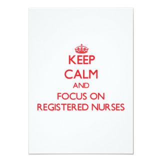 Guarde la calma y el foco en enfermeras comunicados personales