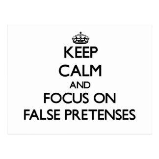Guarde la calma y el foco en engaños