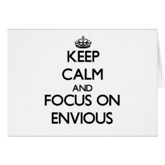Guarde la calma y el foco en ENVIDIOSO Tarjeta Pequeña