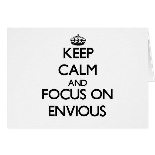 Guarde la calma y el foco en ENVIDIOSO Tarjeton