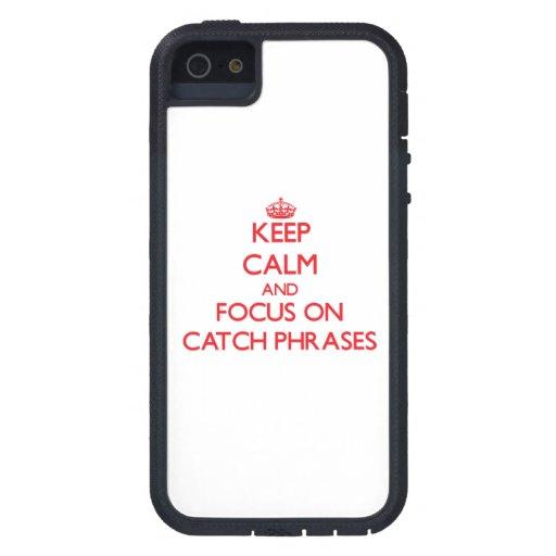 Guarde la calma y el foco en esloganes iPhone 5 Case-Mate cobertura
