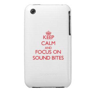 Guarde la calma y el foco en eslóganes iPhone 3 carcasa