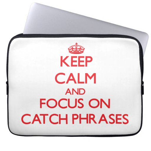 Guarde la calma y el foco en esloganes mangas computadora
