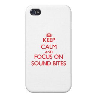 Guarde la calma y el foco en eslóganes iPhone 4/4S fundas