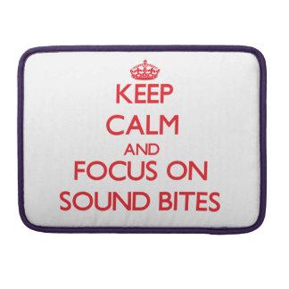 Guarde la calma y el foco en eslóganes funda macbook pro