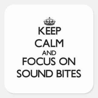 Guarde la calma y el foco en eslóganes