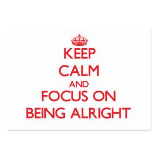 Guarde la calma y el foco en estar bien