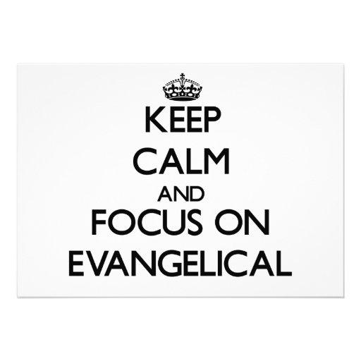 Guarde la calma y el foco en EVANGELICAL Anuncios Personalizados