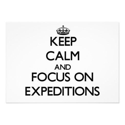 Guarde la calma y el foco en EXPEDICIONES Invitación Personalizada