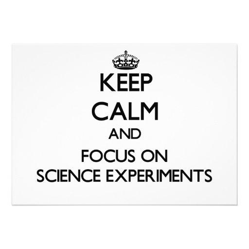 Guarde la calma y el foco en experimentos de la ci anuncios personalizados