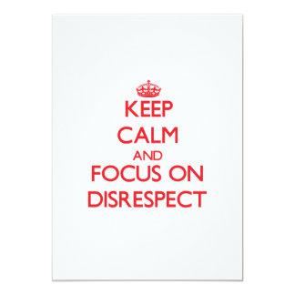 Guarde la calma y el foco en falta de respeto invitacion personalizada