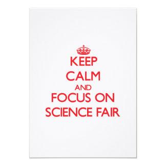 Guarde la calma y el foco en feria de ciencia anuncio personalizado