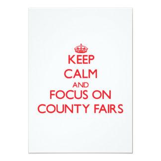 Guarde la calma y el foco en ferias del condado comunicados personalizados