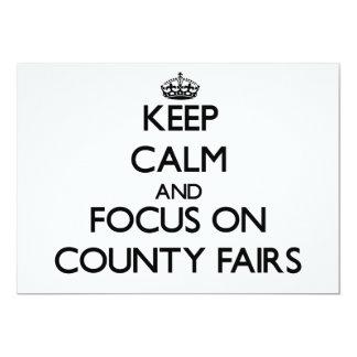 Guarde la calma y el foco en ferias del condado anuncio personalizado