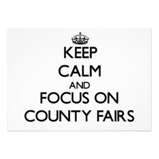 Guarde la calma y el foco en ferias del condado