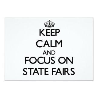 Guarde la calma y el foco en ferias del estado comunicado personalizado