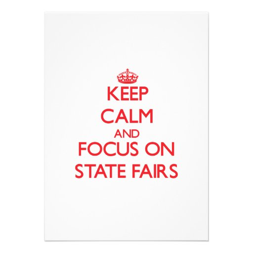 Guarde la calma y el foco en ferias del estado comunicado