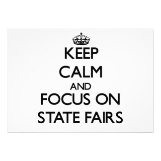 Guarde la calma y el foco en ferias del estado