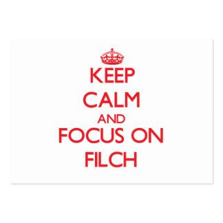 Guarde la calma y el foco en Filch Tarjetas De Visita Grandes