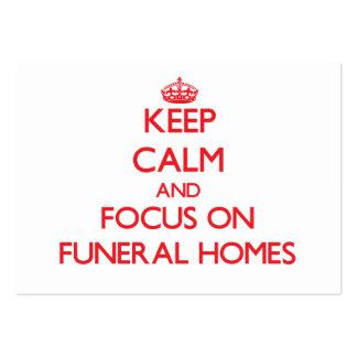 Guarde la calma y el foco en funerarias