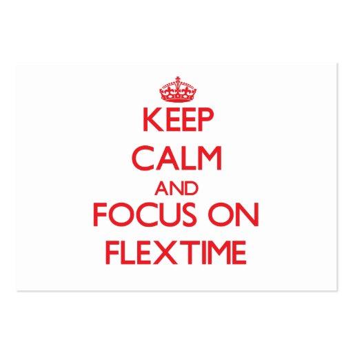 Guarde la calma y el foco en horario flexible tarjeta de visita