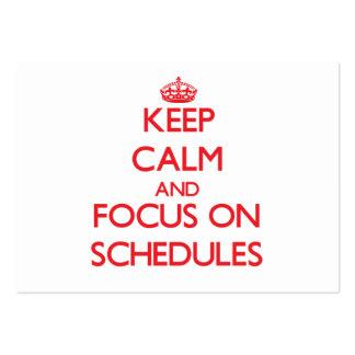 Guarde la calma y el foco en horario tarjeta de visita
