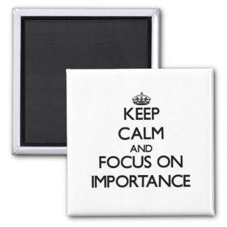 Guarde la calma y el foco en importancia