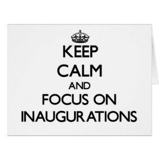 Guarde la calma y el foco en inauguraciones