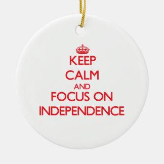 Guarde la calma y el foco en independencia