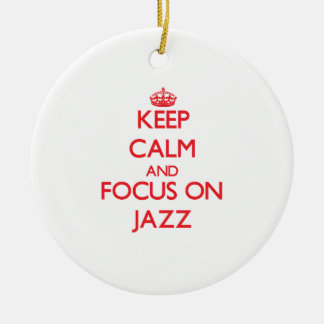 Guarde la calma y el foco en jazz