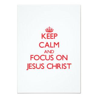 Guarde la calma y el foco en Jesucristo Invitación 12,7 X 17,8 Cm