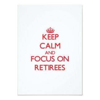 Guarde la calma y el foco en jubilados invitación