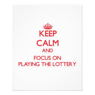 Guarde la calma y el foco en jugar la lotería tarjetones